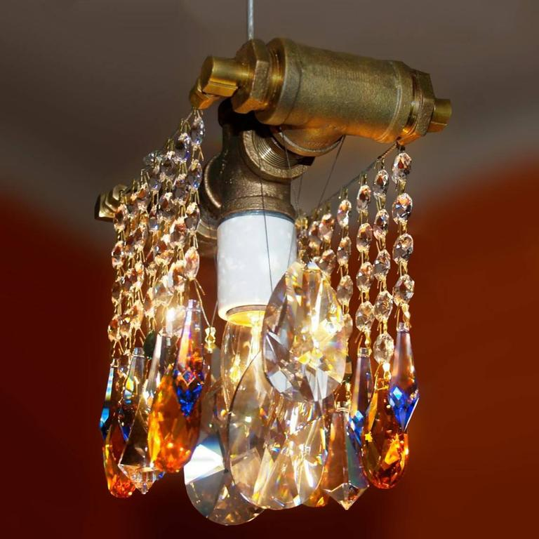 Industrial Collection Single Bulb Chandelier Pendant For