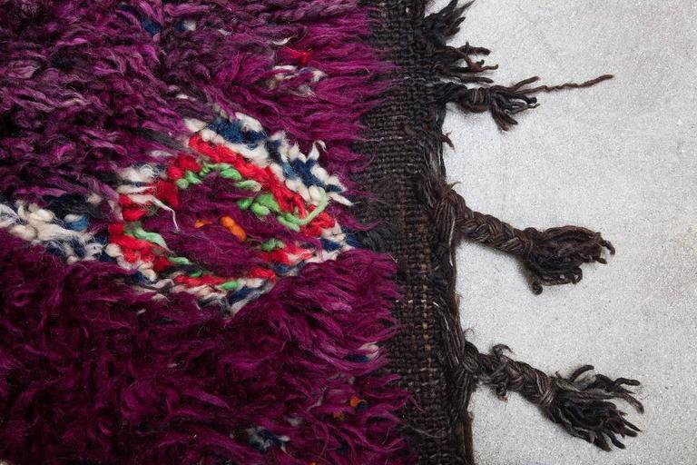 Wool Vintage Moroccan Zayan Rug