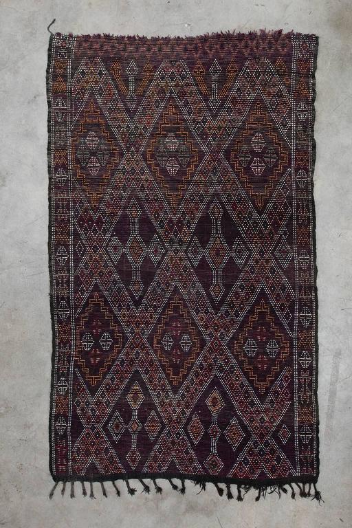 Vintage Moroccan Zayan Rug 1