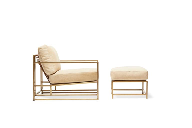 A New Armchair And Ottoman Pair In Our Leather Series, This Version Of The  Inheritance