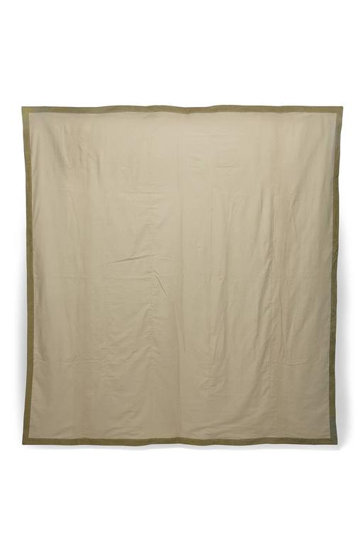 Arts and Crafts Vintage Military Canvas Quilt For Sale