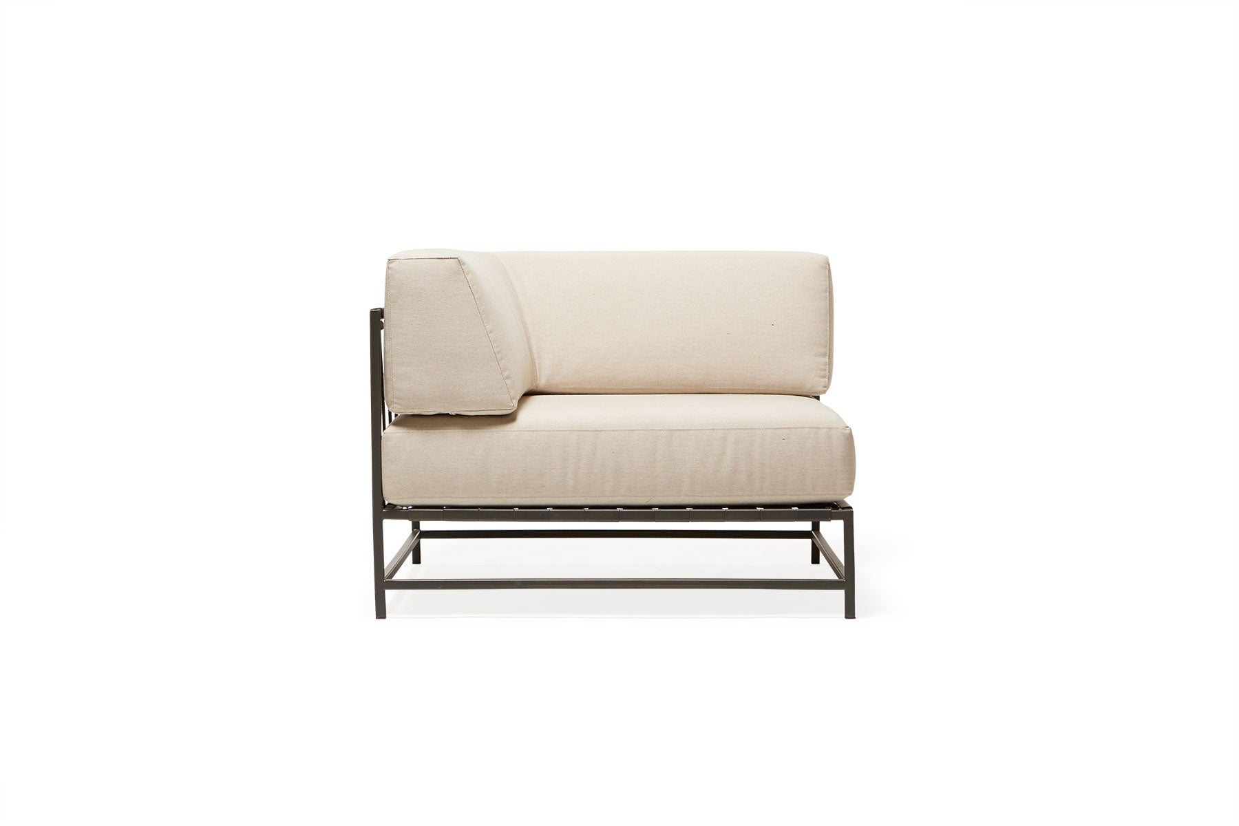 Outdoor Cream And Charcoal Corner Chair For Sale At 1stdibs