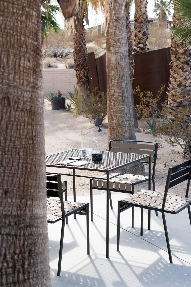 Outdoor Tan and Charcoal Dining Chair For Sale 5