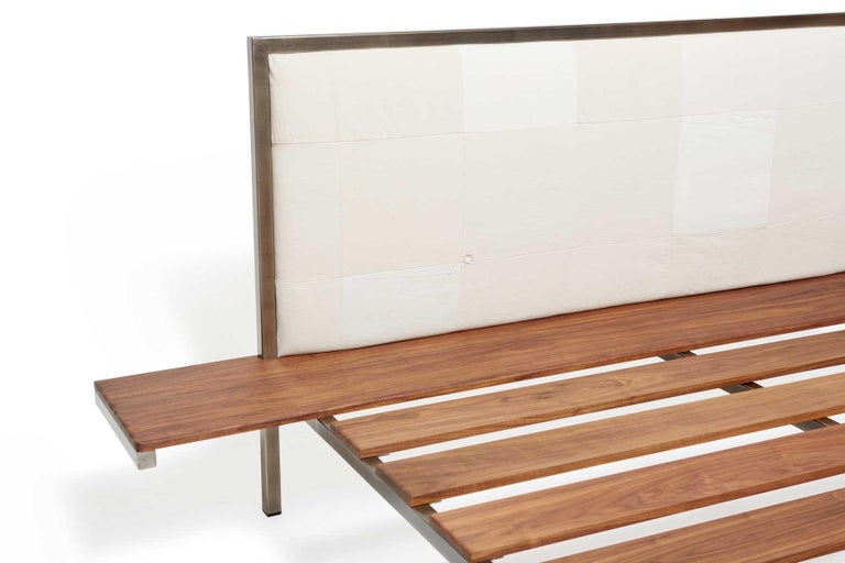 Customizable Bed Frame with Side Tables and Bench For Sale at 1stdibs