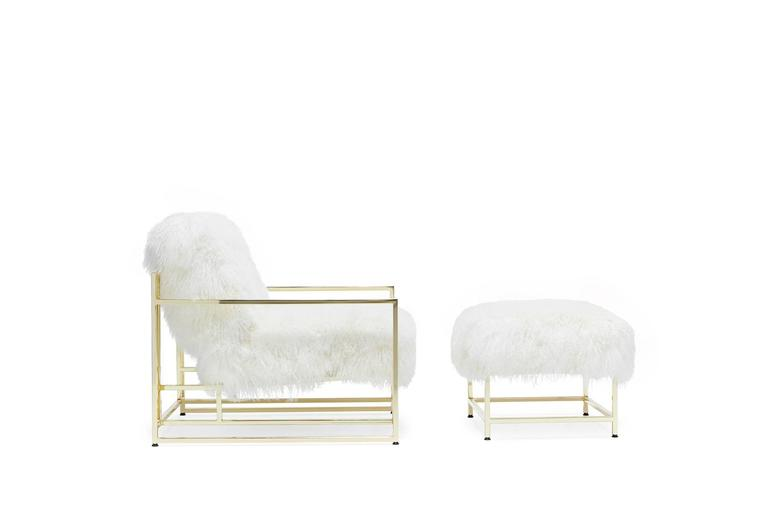 Delightful White Armchair With Ottoman #23 - The Epitome Of Luxury And Comfort, This Inheritance Armchair And Ottoman  Has Ultra Soft White