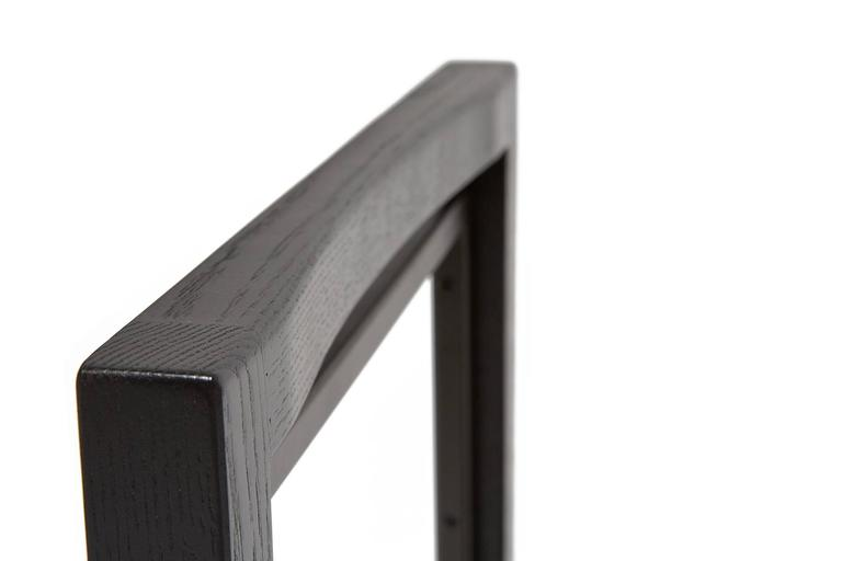 Ebonized Oak and Blackened Steel Dining Chair For Sale 1