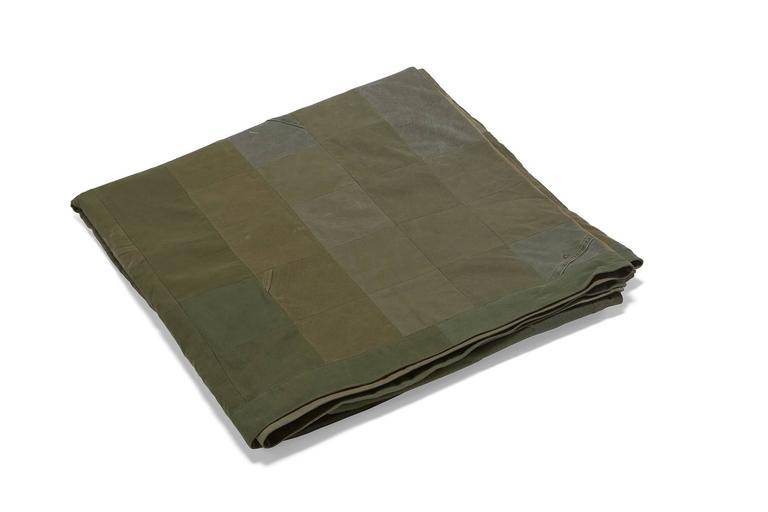 American Vintage Military Canvas Quilt For Sale