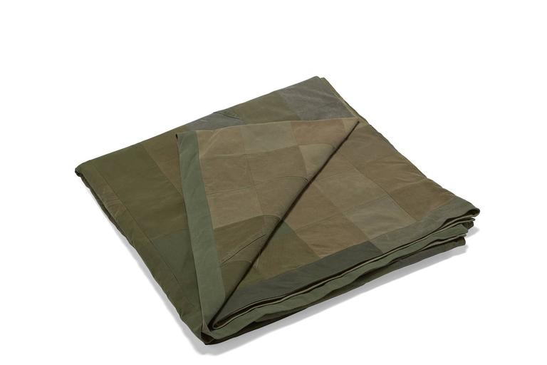 Quilted Vintage Military Canvas Quilt For Sale