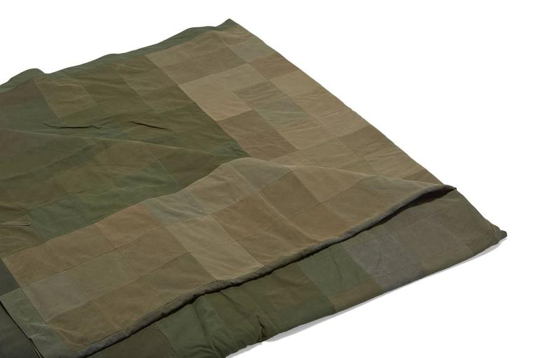 Vintage Military Canvas Quilt In New Condition For Sale In Los Angeles, CA