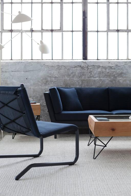Bowline Sofa In Black Canvas For Sale At 1stdibs