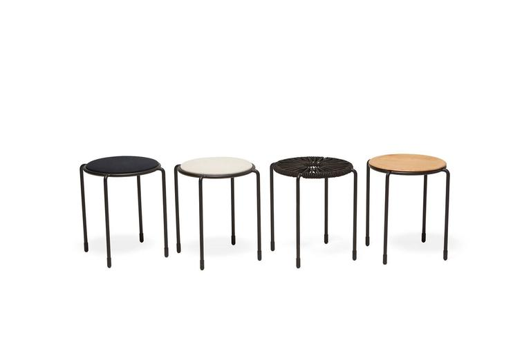 Powder-Coated Bowline Rope Stool - In Stock For Sale