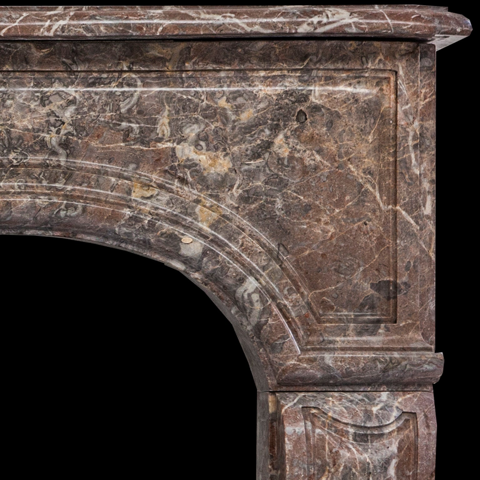 19Th Century, Louis Xv Style Antique Fireplace Mantel In Rouge