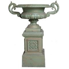 Pair of Cast-Iron Urns