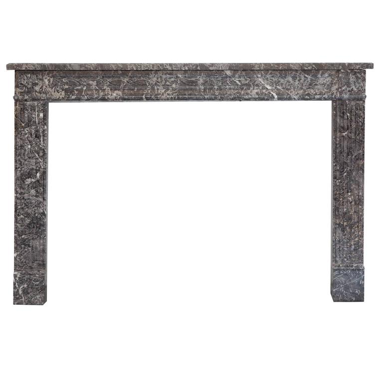 18th Century Louis XVI St Anne's Marble Fireplace Mantel For Sale