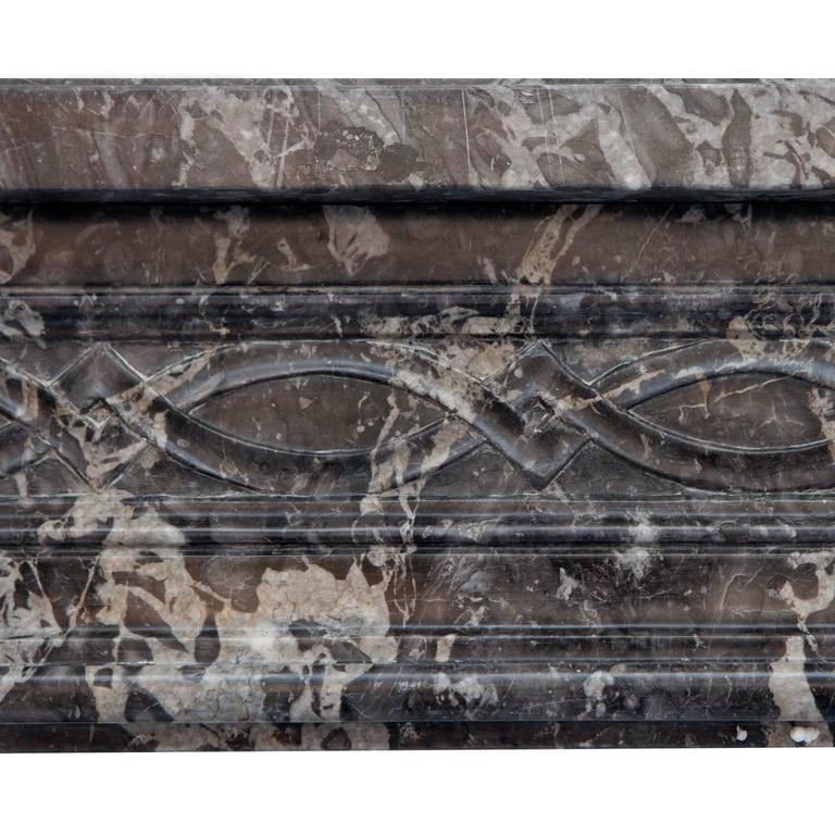 French 18th Century Louis XVI St Anne's Marble Fireplace Mantel For Sale