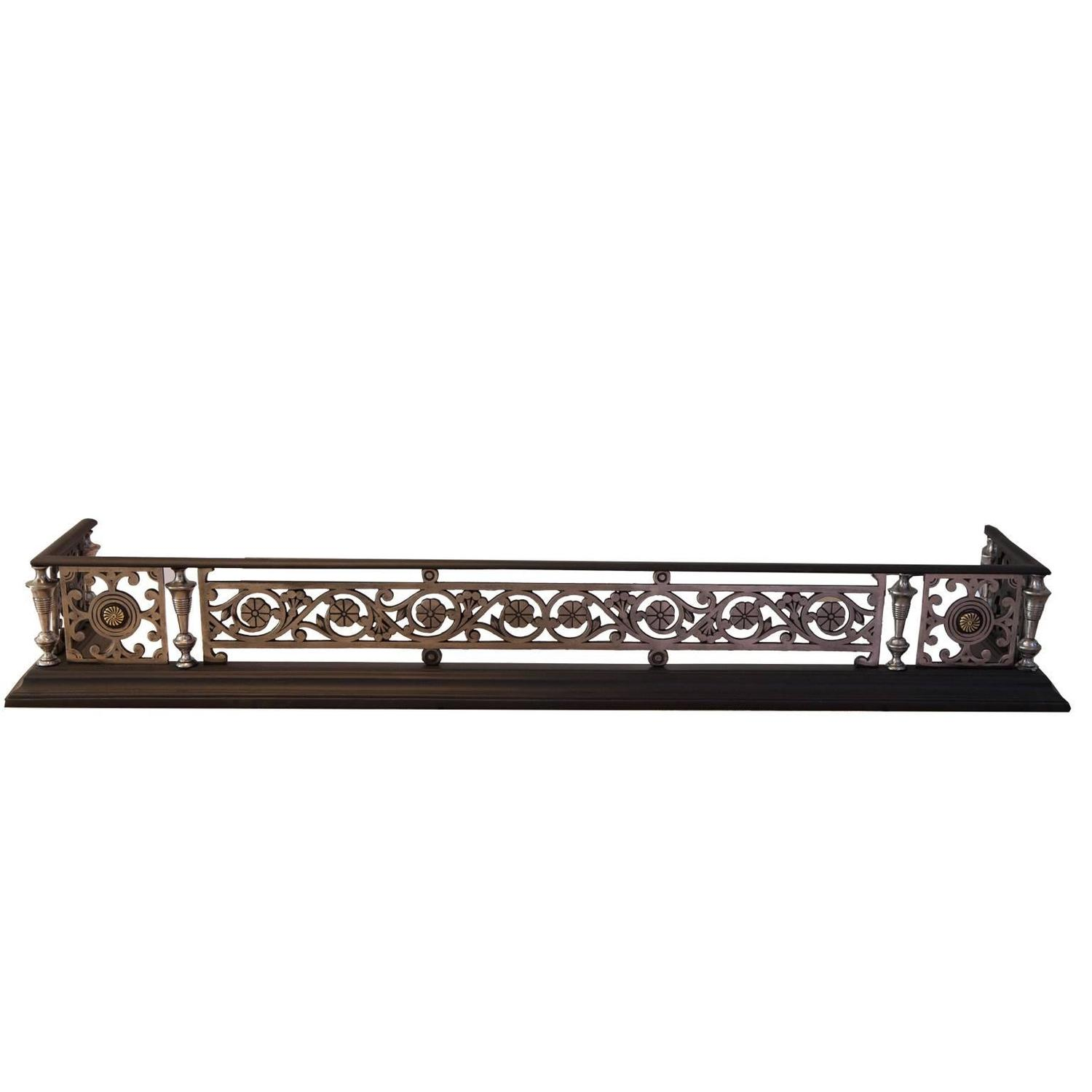 19th century cast iron fireplace fender for sale at 1stdibs