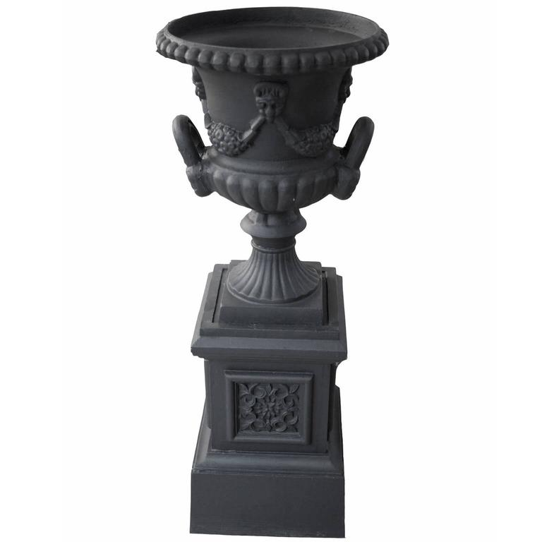 20th Century Cast Iron Urn For Sale