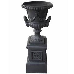 20th Century Cast Iron Urn