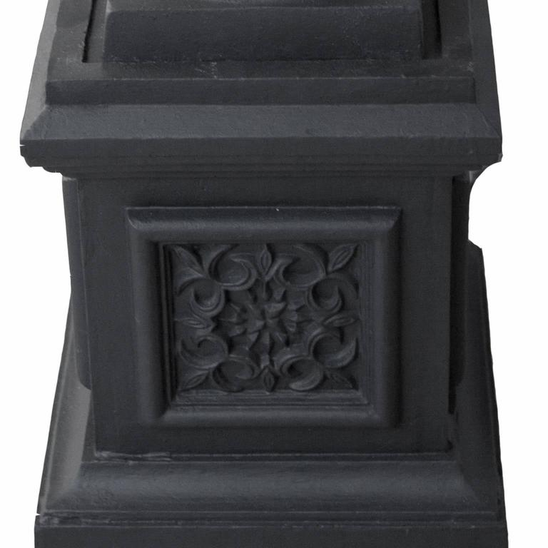 Blackened 20th Century Cast Iron Urn For Sale