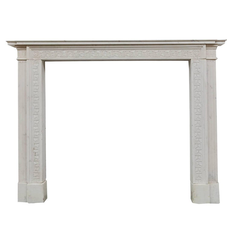 19th Century Regency Soane Statuary Marble Mantelpiece