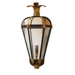 20th Century English Empire Style Wall Lanterns