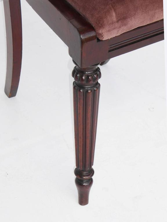 English Set of Six 19th Century Mahogany Dining Chairs For Sale