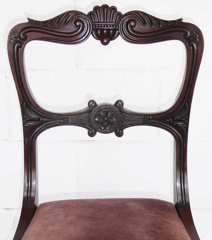 Set of Six 19th Century Mahogany Dining Chairs For Sale 1