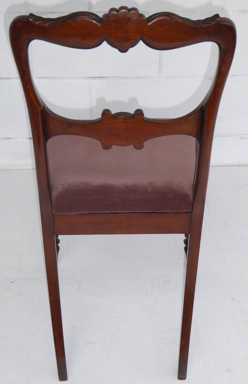 Set of Six 19th Century Mahogany Dining Chairs For Sale 3