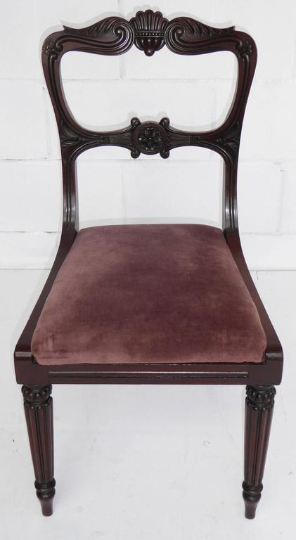 Set of Six 19th Century Mahogany Dining Chairs For Sale 4