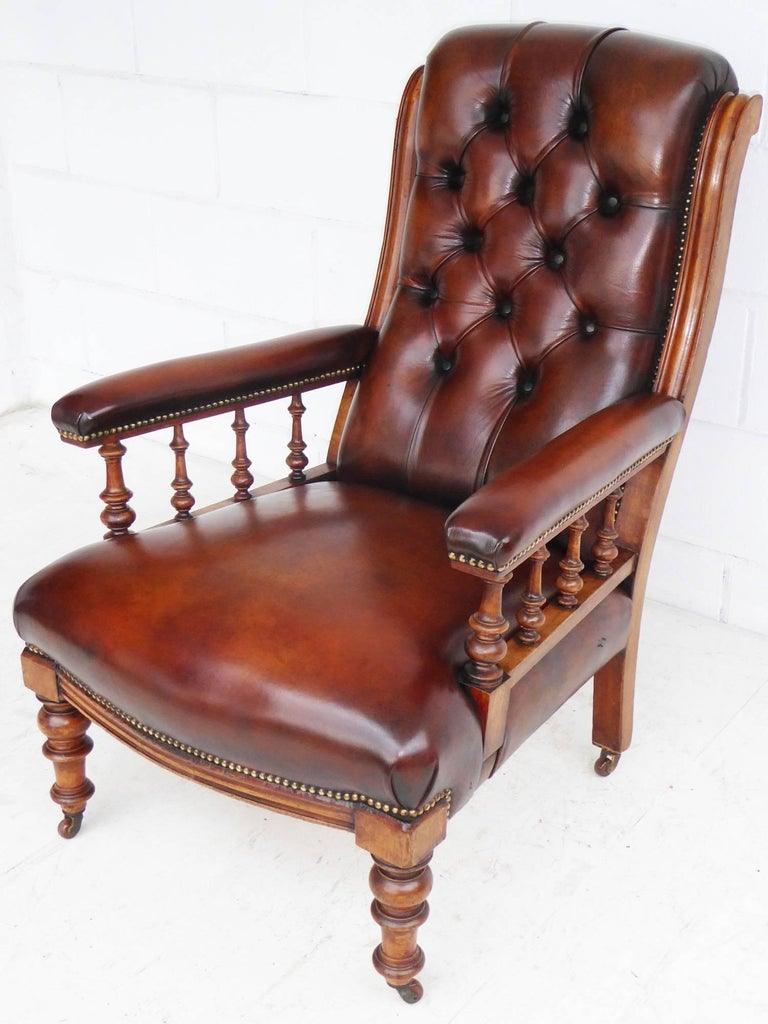 leather library chairs for sale 19th century leather library chair at 1stdibs 16646 | P1070835 master