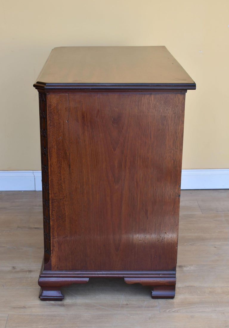 18th George III Century Chippendale Period Mahogany Chest of Drawers For Sale 6