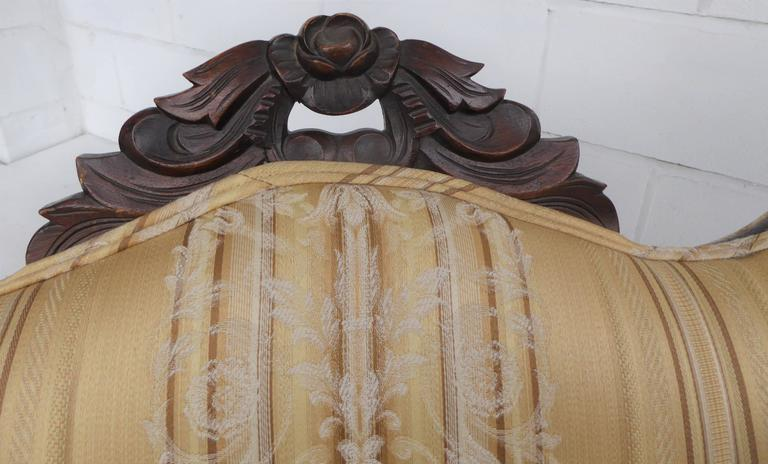 Victorian Rosewood Carved Sofa Or Chaise For Sale At 1stdibs