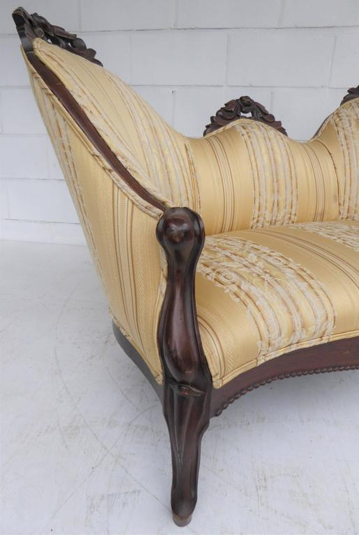 Victorian rosewood carved sofa or chaise for sale at 1stdibs for Carved chaise lounge