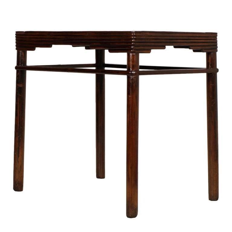 1920s Italian Art Deco Rectangular Table in Solid Walnut by Meroni & Fossati