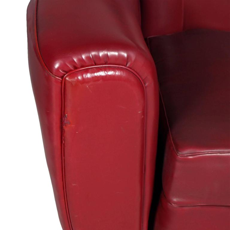 Mid-Century Modern Italian Mid-Century Armchair Club Chair Art Deco Design Guglielmo Ulrich For Sale