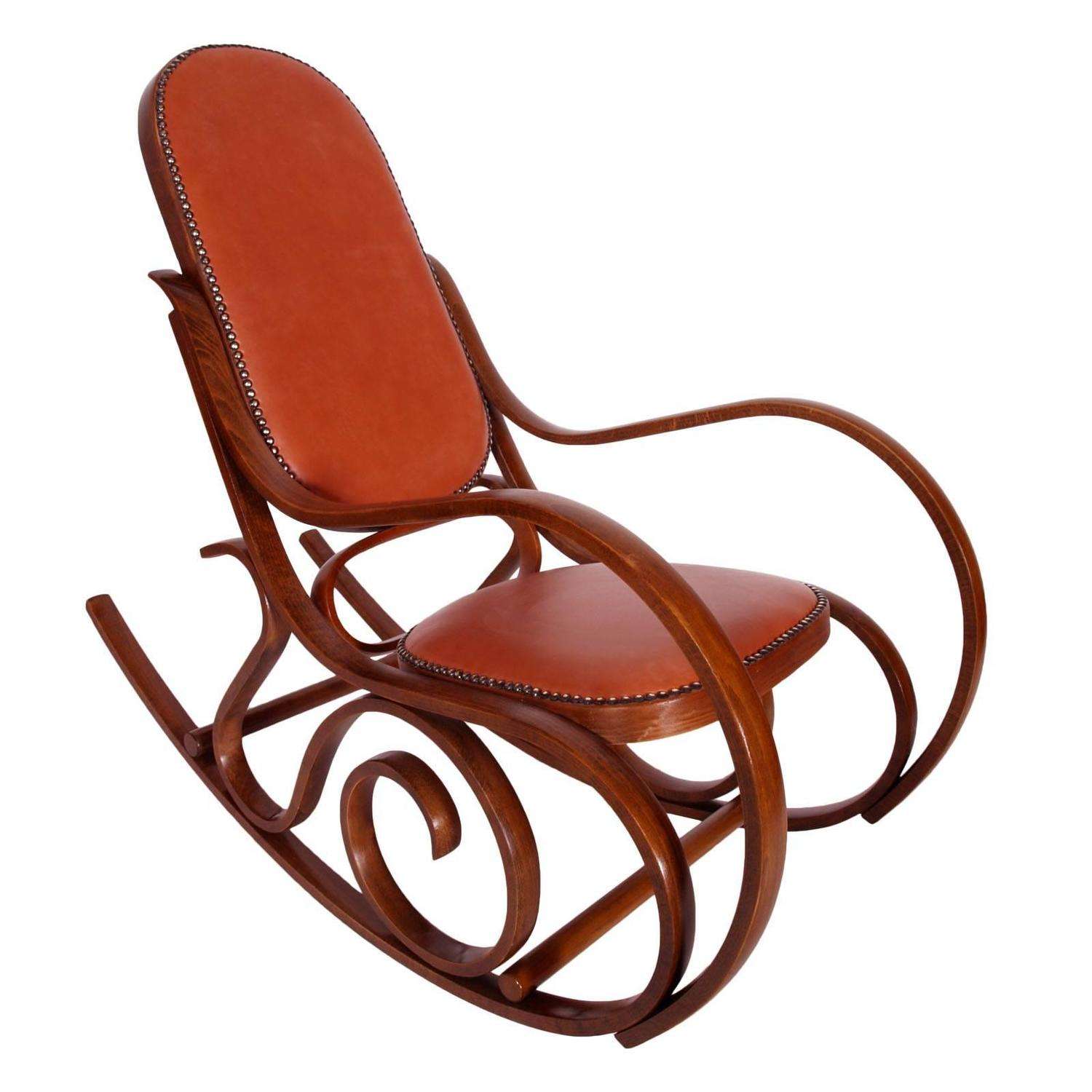 Early 20th Century Art Nouveau Thonet Rocking Chair in Steam Bent Beechwood - Antique Thonet Model #10 Bentwood Rocking Chair; Salvatore Leone