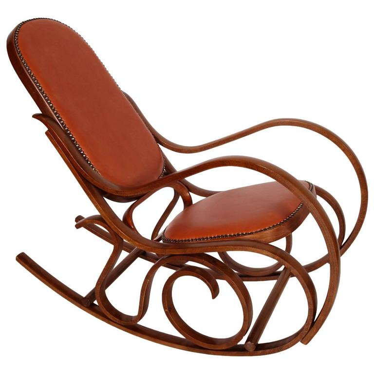 Code: FM07 Rocking Chair, Original From The Early U0027900 Art Nouveau, With
