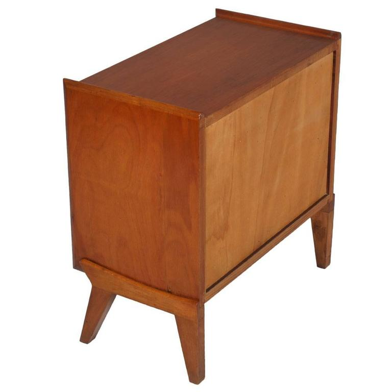 Mid-Century Modern Mid-Century Cabinet Paolo Buffa Manner Blond Walnut Burr Birch Inlay Threaded For Sale
