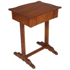 19th Century Biedermeier Country Small Table worktable Tyrol Massive Larch Wood