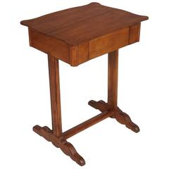 Early 20th Century Biedermeier Country Small Table Desk Massive Larch Wood