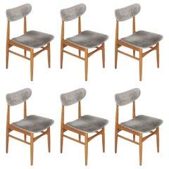 Set of Six Danish Chairs 1950s Peter Hvidt and Orla Mølgaard-Nielsen Manner