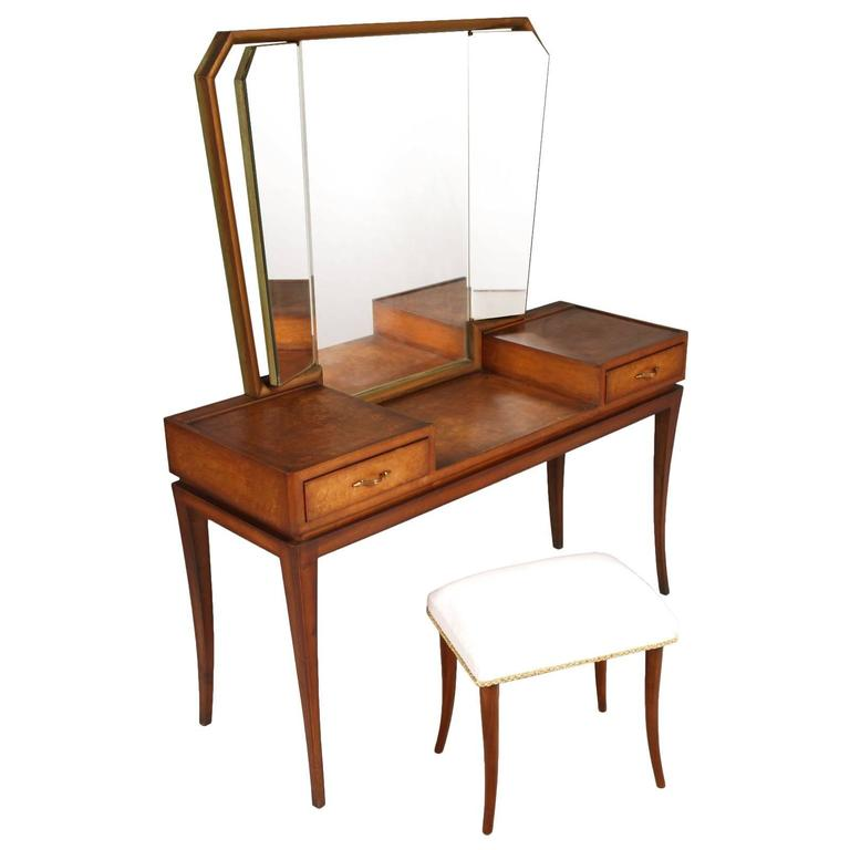 Early 20th century modernist vanity or dressing table for Thin dressing table