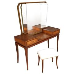 Early 20th Century Modernist Vanity or Dressing Table, Meroni & Fossati Lissone