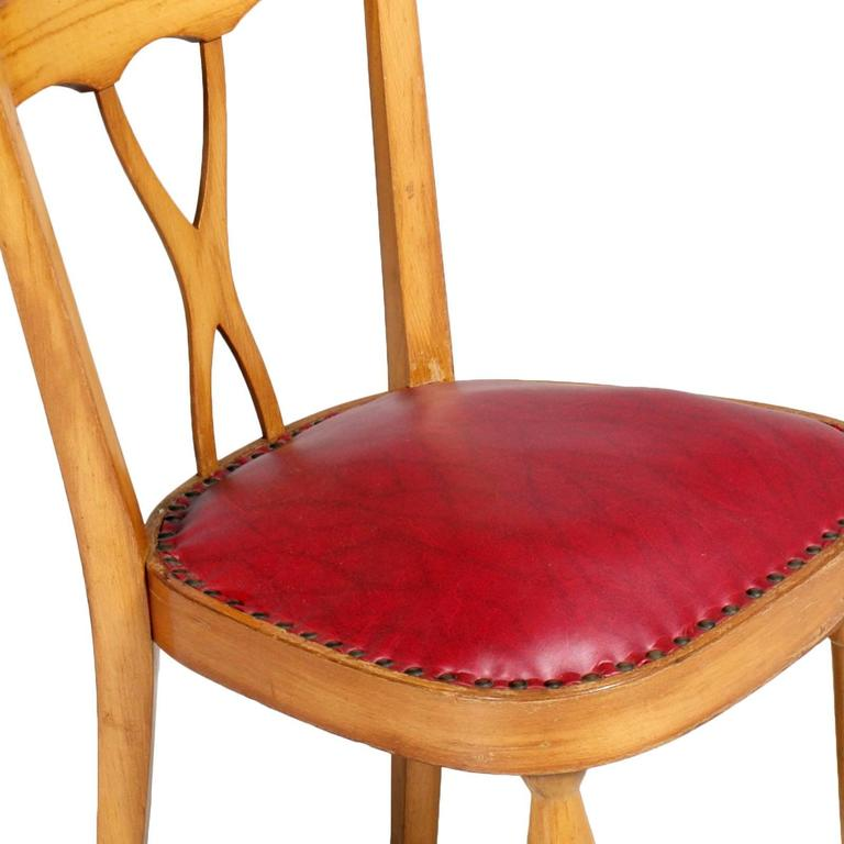 Italian Mid-Century Modern Side Chairs designer Melchiorre Bega attributed For Sale 1