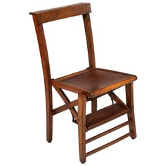 Church Chair Faldstool Art Nouveau Santo Antonio Cathedral, wax polished