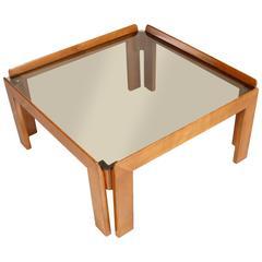 Italian Mid-Century Modern Coffee Tabletop Cristal Fumè Design A.&T. Scarpa