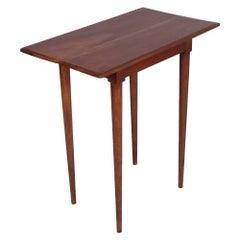 Mid-Century Art Deco Side Table in Massive Walnut Gio Ponti Style