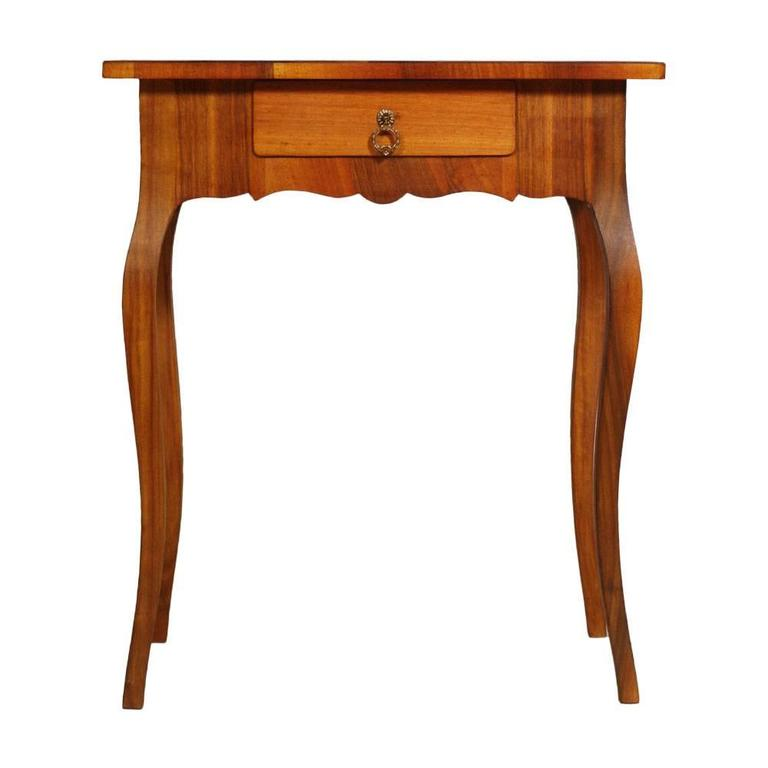 Mid Century Bedside Table Side Mive Walnut And Lied 1940s