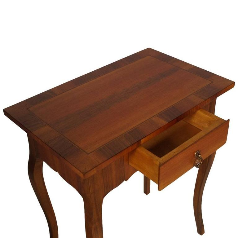 Baroque Revival Early 20th Century Side Table, Nightstand Walnut and veneer Walnut inlay , 1920s For Sale
