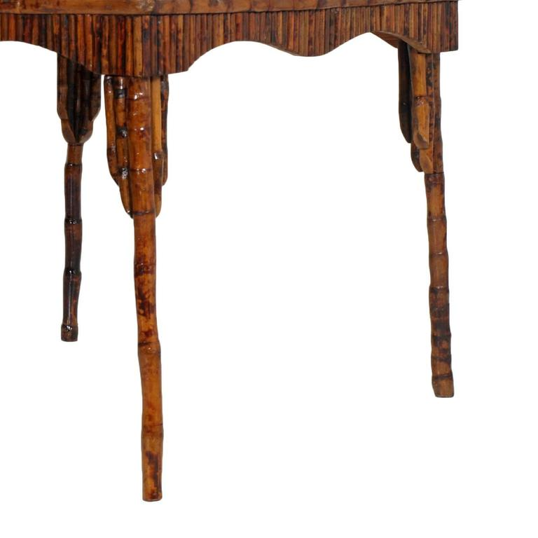 20th Century Unobtainable Fabulous Art Deco Bamboo Lacquered Table For Sale